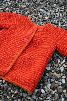 Free pattern: http://www.ravelry.com/patterns/library/garter-yoke-baby-cardi
