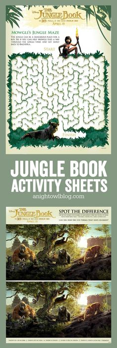 The Jungle Book Activity Sheets - download, print and enjoy today!