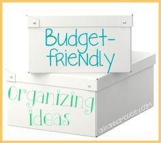 Budget-friendly organization tips - Ask Anna.  These are great ideas and so easy on the wallet!