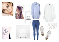 """""""Blue"""" by chaimae-megherbi on Polyvore featuring mode, Glamorous, MANGO, Converse, CHARLES & KEITH et Forever 21"""