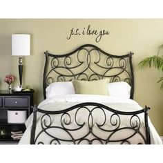 Iron bed frame and slogan