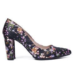 Zapato de salón tacón bajo mujer NEGRO FLORES – miMaO Spain Online – miMaO  ShopOnline Zapatos a7eea304c24