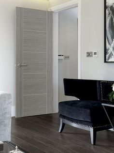 Jb Kind Laminates Lava Tigris Grey - internal doors - colours - Laminates Lava Tigris Grey - Timber, Tool and Hardware Merchants established in 1933 Contemporary Internal Doors, White Internal Doors, Contemporary Interior, Black Interior Doors, Door Design Interior, Grey Doors, Wood Doors, Wooden Door Design, Inside Doors