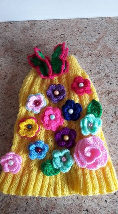 Perro suéter jardín flores de Nina alta costura Closet