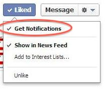 Get Notifications from Pages