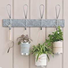 Garden tool storage ideas to organise your shed - Hang forks, rakes and growing seedlings up off the floor with sturdy wall hooks.