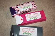 From Kindergarten With Love: Stretchy the Word Snake!--Great way to store small group games! Kindergarten Language Arts, Kindergarten Literacy, Literacy Activities, Early Literacy, Reading Activities, Educational Activities, Phonics Reading, Teaching Reading, Teaching Ideas