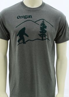 Oregon Bigfoot| Men's regular T Shirt| Sasquatch| Art by MATLEY| Sizes up to 5XL| Yetti| Pacific north west| Gift for him and her| Unisex. by MatleyInk on Etsy https://www.etsy.com/listing/111175064/oregon-bigfoot-mens-regular-t-shirt