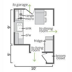 Small Kitchen Floor Plans Part 55