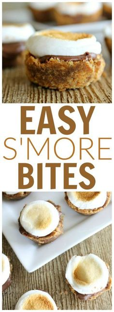 Easy Smore Bites dessert recipe for summer! @sixsistersstuff. Little bars of goodness, great for a delicious treat.