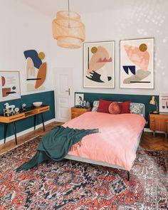 Emerald Green Bedrooms, Bedroom Green, Bedroom Decor, Bedroom Ideas, Girls Bedroom, Emerald Bedroom, Funky Bedroom, Master Bedroom, Bedroom Artwork