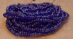 Czech Seed Beads Glass 10/0 Glossy Blue 6 Strands approx 2000 by EunicesTickleTrunk on Etsy