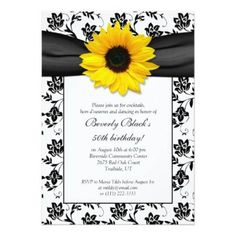 Floral Wedding RSVP Navy and White Floral Damask Wedding Reply Card Black And White Wedding Invitations, Sunflower Wedding Invitations, Bridal Shower Invitations, Custom Invitations, Birthday Party Invitations, Anniversary Invitations, Invites, Sunflower Weddings, Sunflower Party