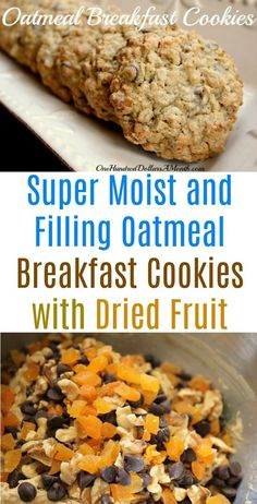 Oatmeal Breakfast Cookies Oatmeal Cookie Recipes Oatmeal cookies with dried fruit healthy snacks healthy cookies bake sale cookie recipes What Is Healthy Food, Healthy Fruits, Good Healthy Recipes, Healthy Foods To Eat, Healthy Snacks, Healthy Baking, Oatmeal Breakfast Cookies, Oatmeal Cookie Recipes, Recipe With Oatmeal