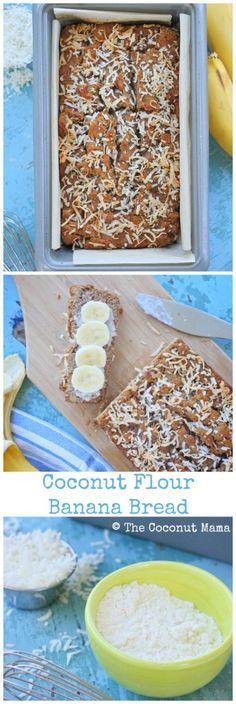 Coconut Flour Banana Bread Recipe - The Coconut Mama (nut free)