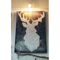 50x70cm Moose Art, Curtains, Shower, Prints, Animals, Rain Shower Heads, Blinds, Animales, Animaux
