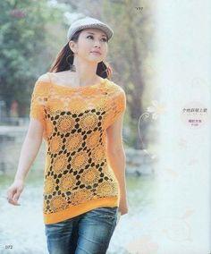 Graficos y Crochet: Tunica modelo chino
