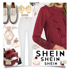 """Shein"" by eldinreham ❤ liked on Polyvore featuring River Island, Furla, Ariana Boussard-Reifel, Michael Kors, Avenue, Mark & Graham, Bobbi Brown Cosmetics, JLA Home, By Terry and Abigail Ahern"