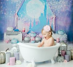 First Birthday Cake Smash - Baby Spa - Gilmore Studios Smash Cake Girl, Birthday Cake Smash, First Birthday Cakes, 1st Birthday Girls, Girl Cakes, Birthday Ideas, Baby Pictures, Baby Photos, Princess Shot