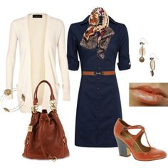 MANGO Fitted Shirt Dress - Polyvore