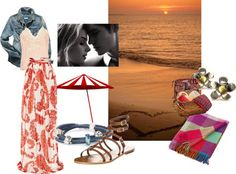 """""""Valentine's Day on the Beach?"""" by mytrollbeads on Polyvore"""
