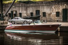 Rare Lamborghini Boat Restored by Riva-World. Two Lamborghini Wooden Boat Building, Wooden Boat Plans, Riva Boot, Classic Wooden Boats, Classic Boat, Timeless Classic, Build Your Own Boat, Best Boats, Wood Boats