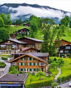 Grindelwald Beautiful Places, Adventure, Mansions, Country, House Styles, City, Switzerland, Home Decor, Mansion Houses