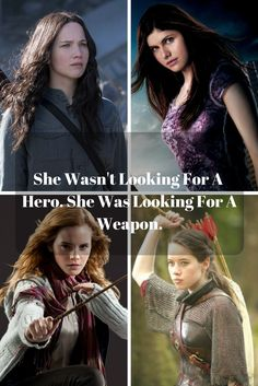 Katniss Everdeen ( The Hunger Games ), Annabeth Chase ( Percy Jackson ), Hermione Granger ( Harry Potter ), Susan Pevensie ( Narnia ), YA Fiction, Girl Power, Allyson Bonny