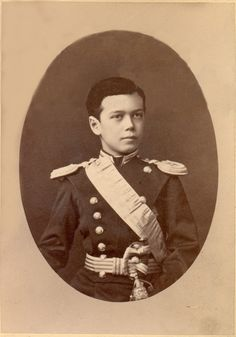 Nicholas II, Czar of Russia (1868-1918)  This is the last czar of Russia, son of Alexander III and Maria Feodorovna, as a child.