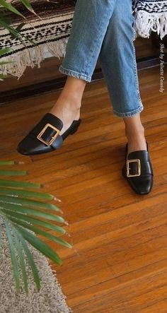 These mules. Because you can't have too many pairs of Puritanical buckle shoes.