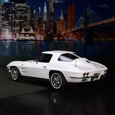 PALM BEACH AUCTION PREVIEW: This '63 Chevrolet Corvette has been restored to its factory-born Ermine White with black interior; every nut and bolt replaced or restored. Matching-numbers 327ci RE-coded L76 engine with 340hp mated to a 4-speed manual transmission. From the John Staluppi Cars of Dreams Collection.