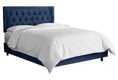 Alix Tufted Bed, Navy Velvet $659.00 by Nelda Babo
