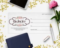 Gift Certificate Printable - Gift Certificate Download - Printable Gift Certificate - Gift Card - Logo Style - 2-16IL by RhondaJai on Etsy