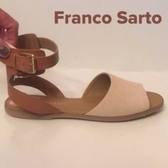 NWT  Franco Sarto Leather Sandals So cute!!!  Brand new. Leather uppers. Side buckle. Franco Sarto Shoes Sandals