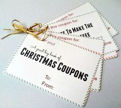 Free Christmas Coupon Book Printables For Mom And Dad  Dads