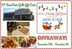 BoneFish Grill Gift Card Giveaway! 12/9 ~ Tales From A Southern Mom