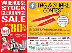 21-24 May 2015: Katrin BJ Kitchenware & Cookware Warehouse Sale Clearance