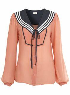 Pink Sailor Blouse