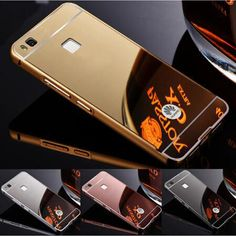 "Mirror Back Cover For Huawei P9 Lite Case Luxury Metal Aluminum Frame Shell For Huawie P9 Lite P 9 9lite 5.2"" Phone Case Coque"