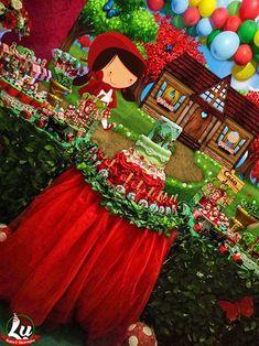 Vestido Chapeuzinho Vermelho Temático Festa 8 12 Anos