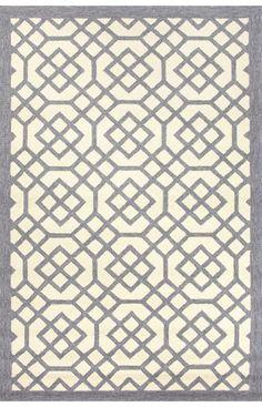Jaipur Rugs Barcelona I-O Grid Trellis Gray Rug