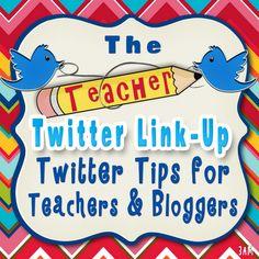 Twitter Linky For Teachers & Teacher Bloggers.. Also tips from Erin Klein! Resource Room Teacher, Teacher Blogs, Teaching Kids, Teaching Resources, Twitter Tips, Educational Technology, Technology Tools, Facebook, Classroom