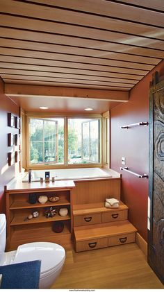 Small-Bath Serenity.  Fine Homebuilding Magazine.  Note tonsu steps.