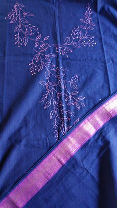 Hand Embroidery Designs, Embroidery Ideas, Beaded Embroidery, Running Stitch, Kurti, Designer Dresses, Dresses For Work, Indian, Room