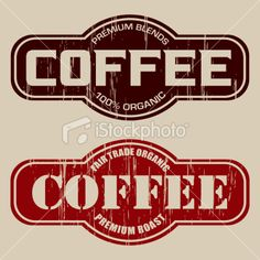 """A simple vintage styled """"Coffee"""" label with a wood grunge texture. Coffee Label, Coffee Logo, Kitchen Canister Labels, Coffee Drawing, Blended Coffee, Decoupage Paper, Rustic Signs, Vintage Coffee, Free Vector Art"""