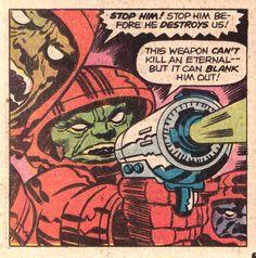 Jack Kirby The Eternals, 4 1976 Jack Kirby Art, New Gods, Silver Surfer, Vintage Comics, Comic Artist, Spiderman, Comic Books, Sketches, Superhero