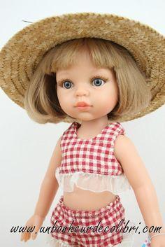 Poupée Carla Bikini Rouge et Blanc à carreaux