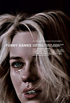 Gunny Games - Michael Haneke. For a film poster, this is a bold aesthetic.