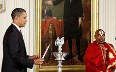 So nice of Barack to lend you his lamp! #Oil_Lamp #Diwali #Barack_Obama