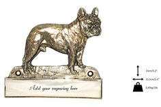 French Bulldog dog plaque can be engraved by ArtDogshopcenter